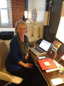 Here is me looking stunned when my Freshly Pressed blog went live. Deer in the headlights?