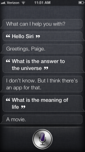 Wow. That is deep, Siri.